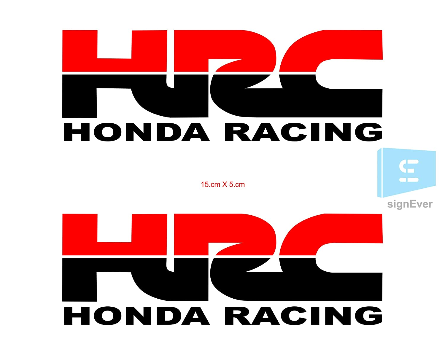 Sign ever honda dio stickers for bike scooty exterior hrc honda racing multicoloured decals l x h 15 x 5 cms pack of 2 amazon in car motorbike