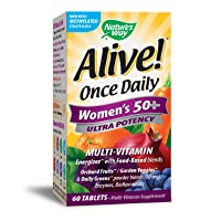 Nature's Way Alive! Once Daily Women's 50+ Multivitamin, Ultra Potency, Food-Based...