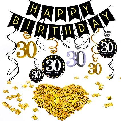 INTVN 30 cumpleaños Colgar Remolino decoración de Techo ...