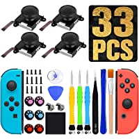Joystick de Repuesto 3D Analógico 4 Piezas, Joysticks de Reemplazo para Nintendo Switch Joycon y Switch Lite, Kit de…