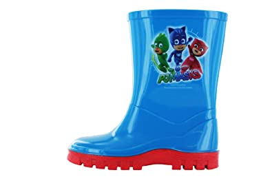 Boys P J Masks Wellington Boots Blue UK Size 5