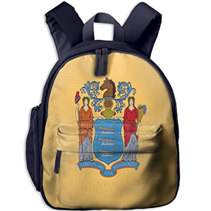 e47208da55 Amazon.com  Fengyaojianzhu Flag Of New Jersey Cute School Book Bag ...