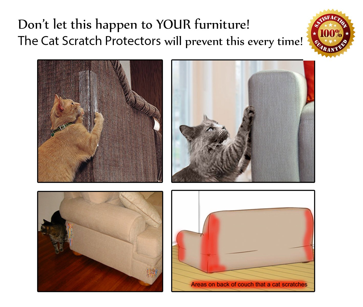Cat Clawing Leather Furniture #19 - Amazon.com: Cat Scratch Protection Any Couch, Sofa Or Chair, Works For  Leather And Upholstered Furniture, 2 Scratching Guards Included, Scratching  Deterrent ...