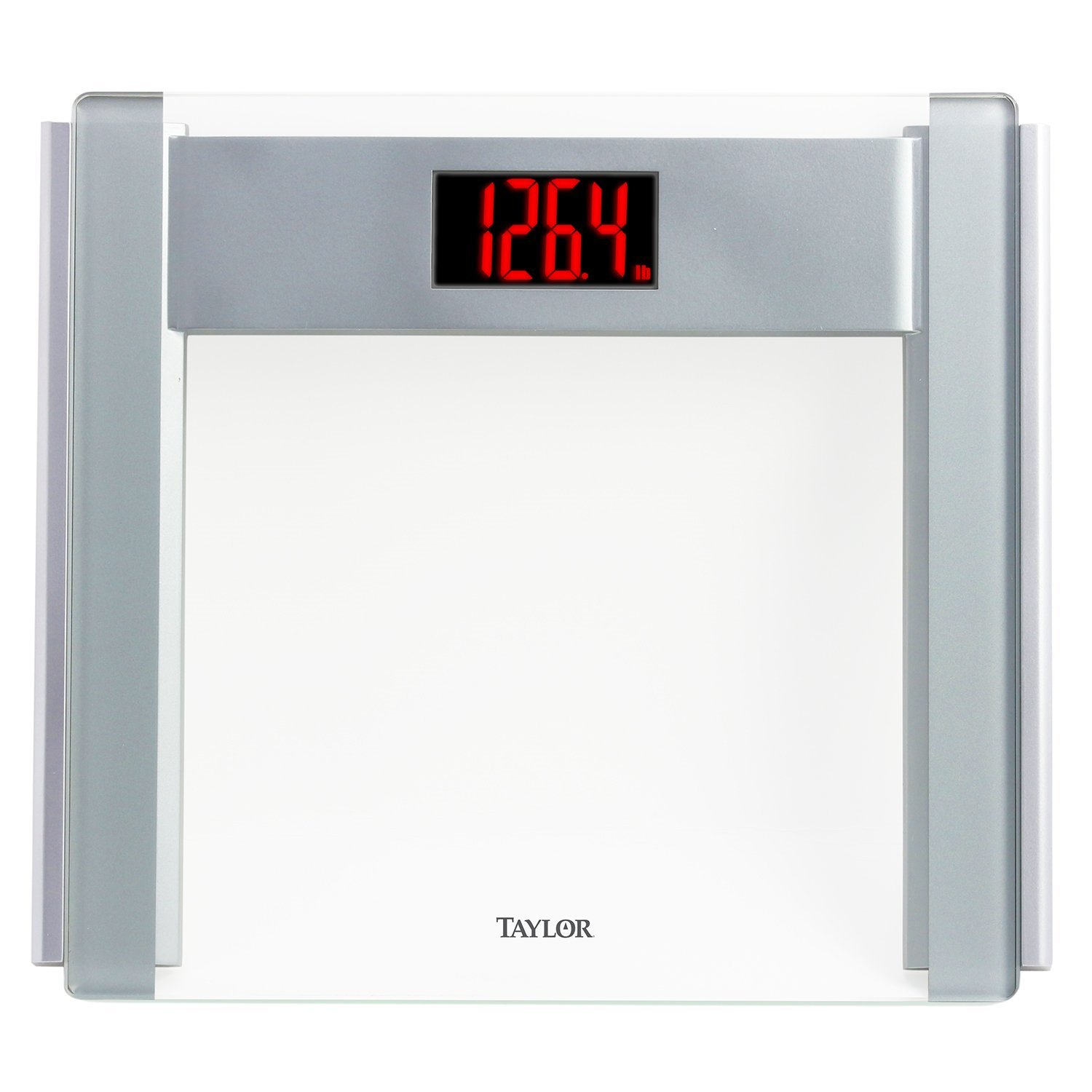 Taylor Precision Products Glass Electronic Scale with Red LCD Digits