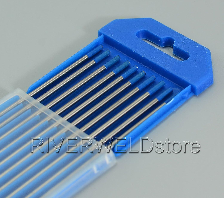 2, 0% Lanthanated WL20 Cielo Blu TIG elettrodi tungsteno (3/32' x 7' e 2, 4mmx 175mm 10pk) 0% Lanthanated WL20 Cielo Blu TIG elettrodi tungsteno (3/32 x 7 e 2 RIVERWELDstore
