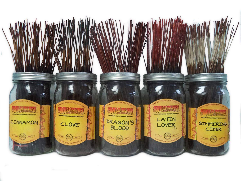 Wildberry Incense SticksスパイシーScentsセット# 3 : 4 Sticks各5の香り、合計20 Sticks 。 B00KKTLH3A