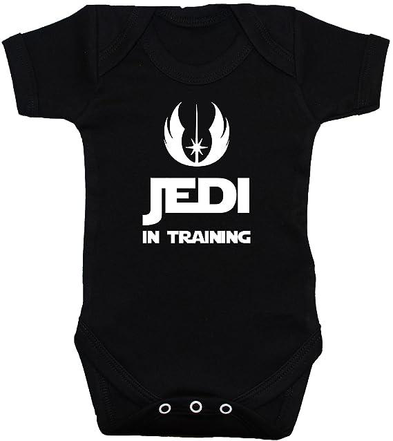 5501c18a6 Acce Products Jedi in Training Body para Bebé Bebé Camiseta Chaleco Star  Wars Negro 0 A 12 Meses  Amazon.es  Ropa y accesorios