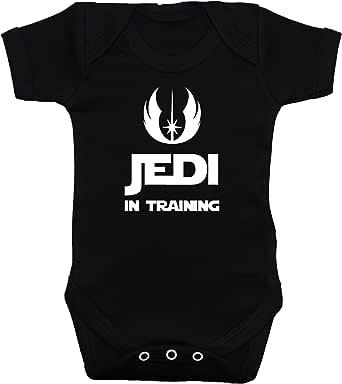 Jedi in Training Body para bebé/bebé/Camiseta/Chaleco Star Wars Negro 0A 12Meses