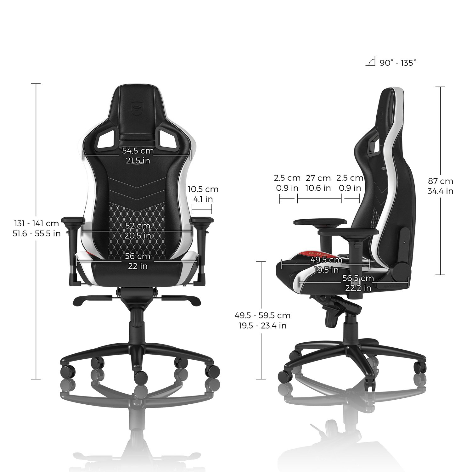 Awesome Nappa Leather Office Chair Black Noblechairs Epic Gaming Inzonedesignstudio Interior Chair Design Inzonedesignstudiocom