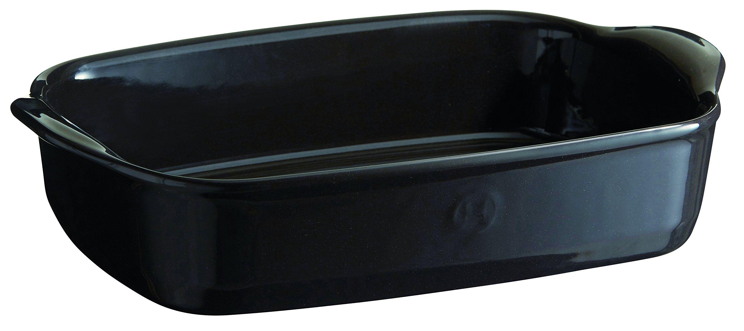 Emile Henry 799650 France Ovenware Ultime Rectangular Baking Dish, 11.4 x 7.5, Charcoal