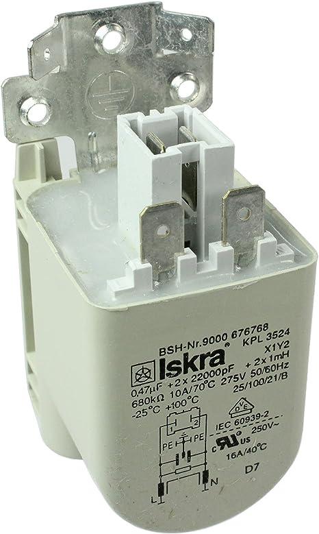 Supresor de filtro de interferencia de radio para lavadora Bosch ...
