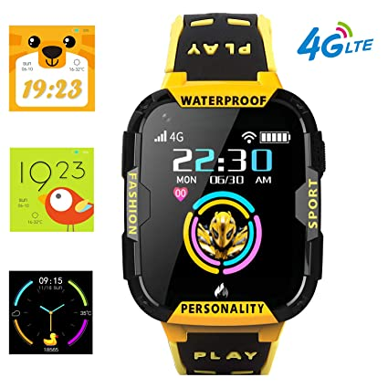 4G Kids Smart Watch Phone - WiFi GPS Tracker Boys Girls Waterproof Smartwatch Touch Screen Watch with Call Voice Video Chat Pedometer Fitness Tracker ...