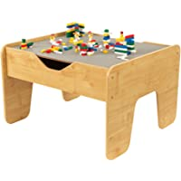 "KidKraft 2-in-1 Activity Table with Board, Gray/Natural, 28.5"""" x 23.5"""" x 3.25"""""""