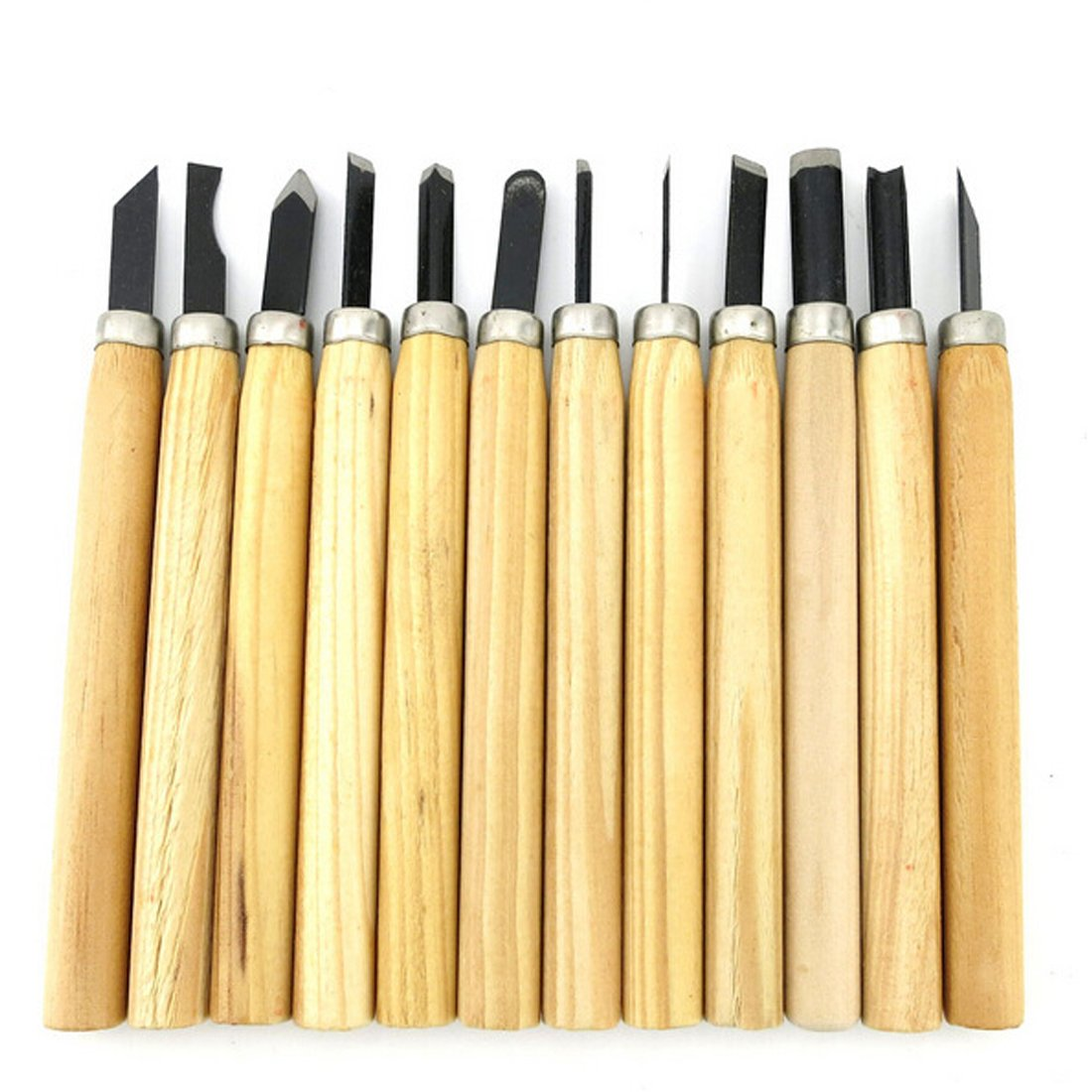 Hand Tools 12pcs/Set Hand Wood Carving Chisels Tool for Basic Woodcut Working Clay Wax DIY Tools and Detailed Woodworking YOGINGO