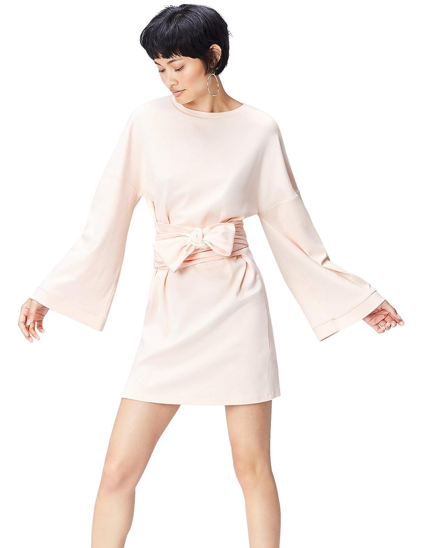 TALLA 36 (Talla del fabricante: X-Small). find. Vestido con Cintura Anudada para Mujer Rosa 36 (Talla del fabricante: X-Small)