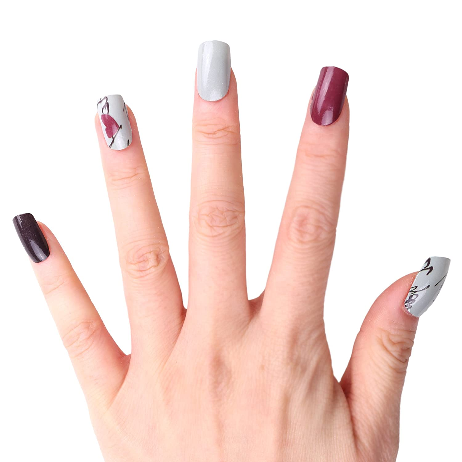 HIGHS EXTRE ADHESION 20pcs Nail Art Transfer Decals Sticker Design ...