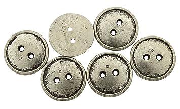140 Round Verschonerung Metallknopf Grosshandel Wohnung 2 Loch Diy