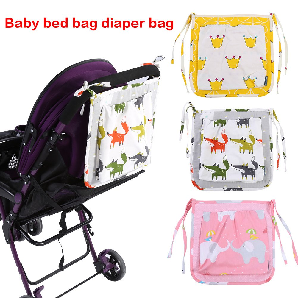 Fox Parents Organizer Bag Baby Toddler Stroller Bad Hanging Cotton Storage Organizer Diaper Bag Backpack Outdoor Use Large Capacity for Baby Care