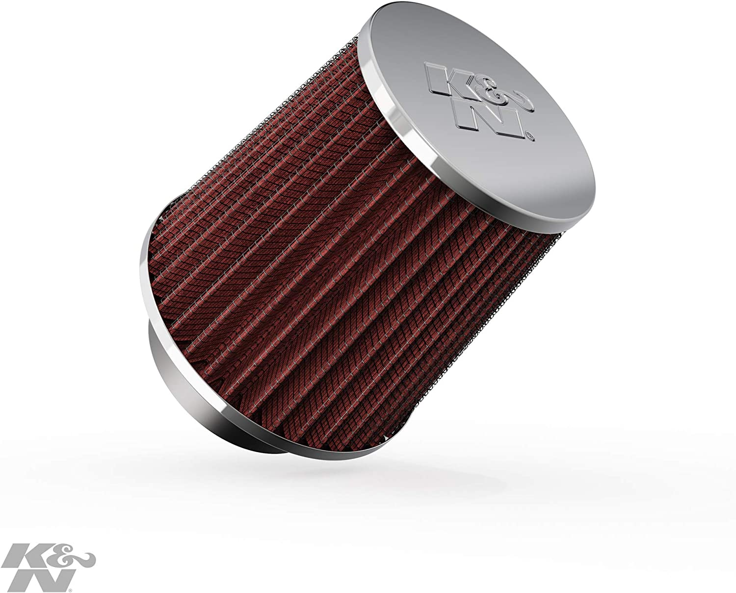 """RED 1996 UNIVERSAL 64mm 2.5/"""" Chrome Top Rubber Bottom AIR INTAKE FILTER"""