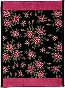 Feiler Miriam Chenille Mat - Black And Pink