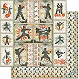 Teenagers Double-Sided Cardstock 12''X12''-Martial Arts