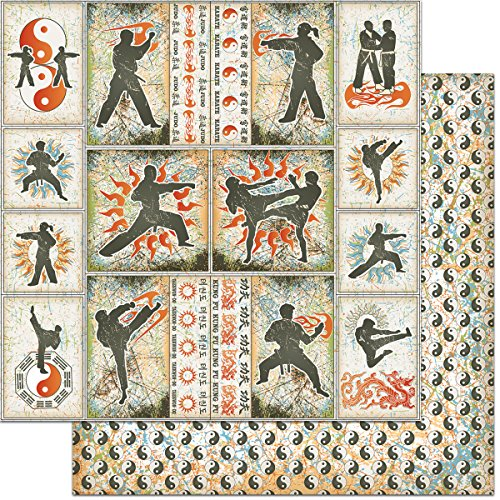 Teenagers Double-Sided Cardstock 12''X12''-Martial Arts by Feature Art