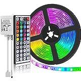 SUPERNIGHT (TM) 16.4FT SMD 5050 Waterproof 300LEDs RGB Flexible LED Strip Light Lamp Kit + 44Key IR Remote Controller…