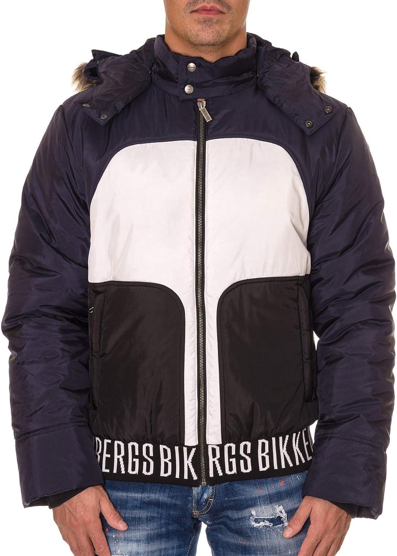 Bikkembergs Anorak Tricolor Capucha Desmontable con Pelo CH05380T9591 Talla 52.