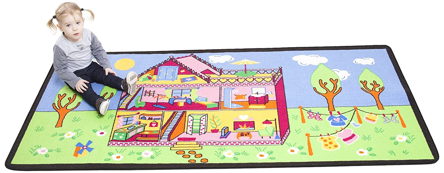 Dollhouse Rug For Toddler Girls