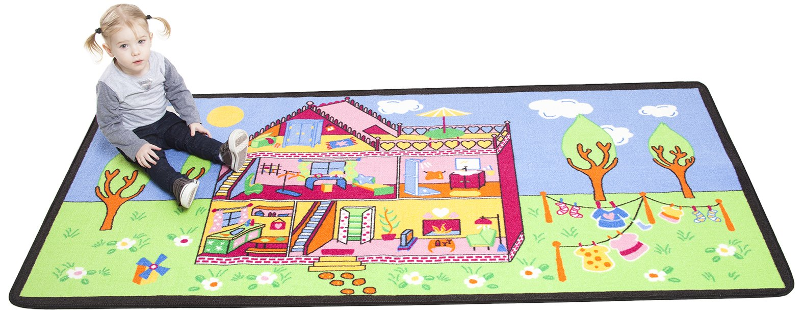 Learning Carpets Childrens Factory Our Dream House, Colorful