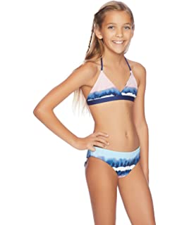 Color Blocked Bralette Bikini Set Splendid Girls
