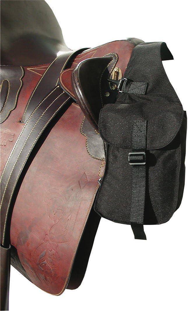 Reitsport Amesbichler AMKA - Bolsa para sillín de caballo, color negro, tamaño pequeño