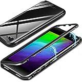 """ivencase Cover iPhone 8 Full Body Custodia, [Tecnologia di adsorbimento magnetico] Metallo Bumper Custodia iPhone 7 PC Retro Case Cover per Apple iPhone 7/8 4.7"""" Nero"""