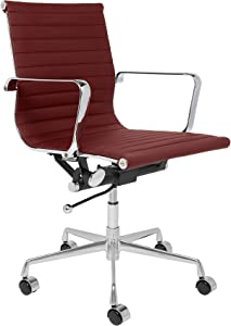 SOHO Ribbed Management Office Chair (Burgundy)