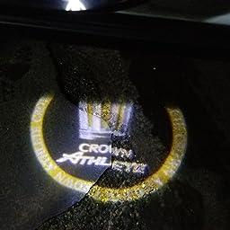 Amazon Colorbuy カーテシライト カーテシ Ledロゴ カーテシランプ Athlete トヨタ クラウン車用 Athlete イエロー カーテシーランプ 車 バイク