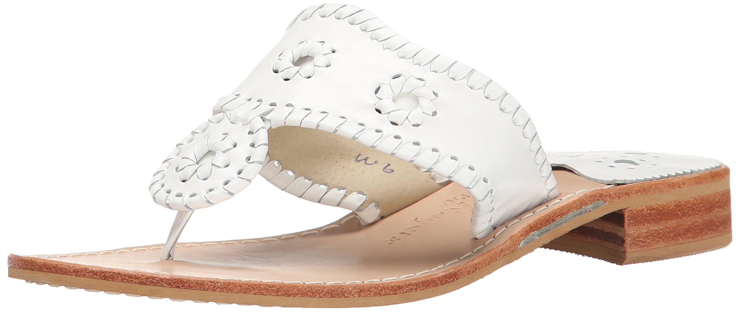 Jack Rogers Women's Palm Beach Navajo Classic Sandal,White,8 M by Jack Rogers