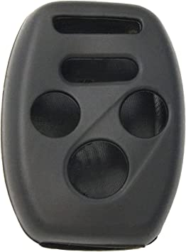 2 Pack Keyless2Go Silicone Cover Protective Case for 4 Button Remote Keys KR55WK49308 MLBHLIK-1T OUCG8D-380H-A Black
