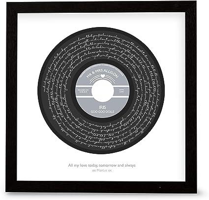 "Goo Goo Dolls /""Iris/"" Heart Print Music Song Lyric Personalised First Dance Gift"