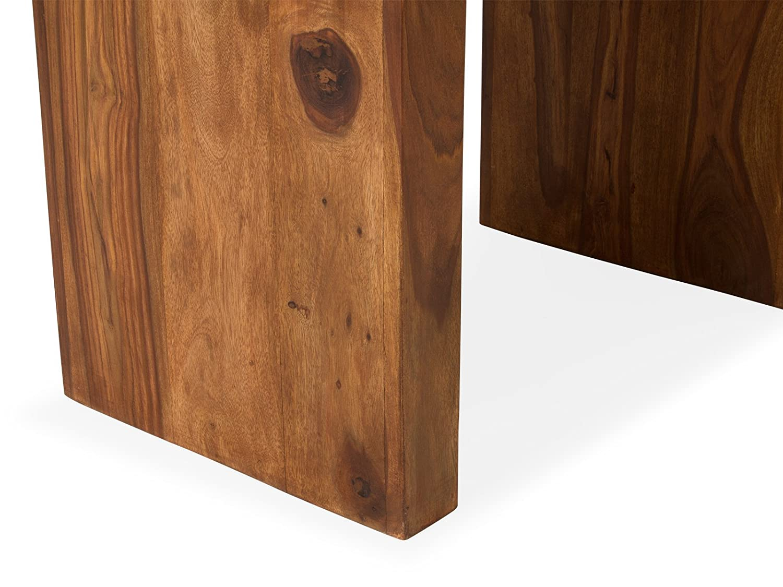 Massivum Beistelltisch Cube Mittel Palisander Honig, Holz, Natur, 45 45 45 x 33 cm 6383b6