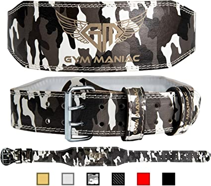 Gym Maniac GM Weight Lifting Waist Gym BeltAdjustable Size 2 Prong Buckle