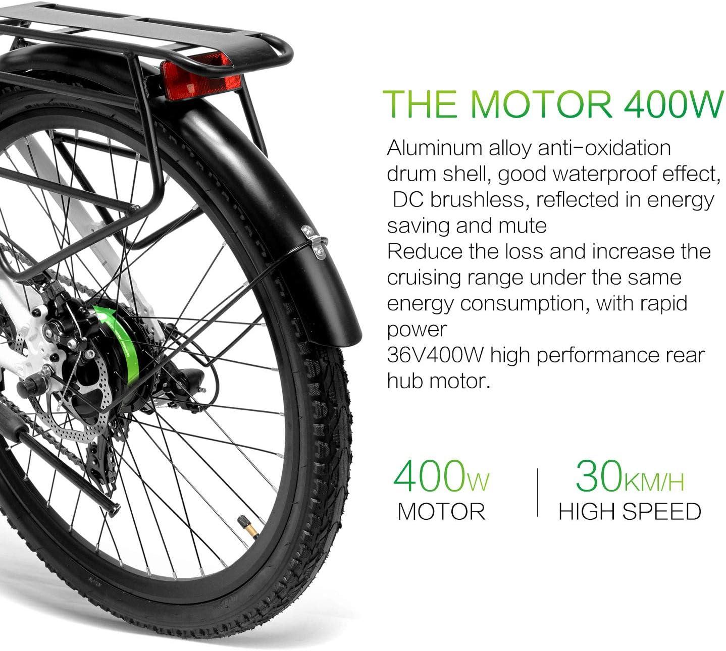 LANKELEISI Lankeleissi - Bicicleta eléctrica de montaña con Motor ...