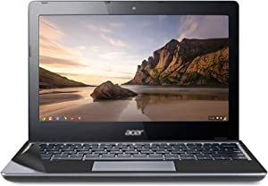 Used Well Chromebook c720 Laptop with Computer Skin in A Cover 11.6 inches 2GB RAM 32GB eMMC - Celeron 2955U - Chrome OS