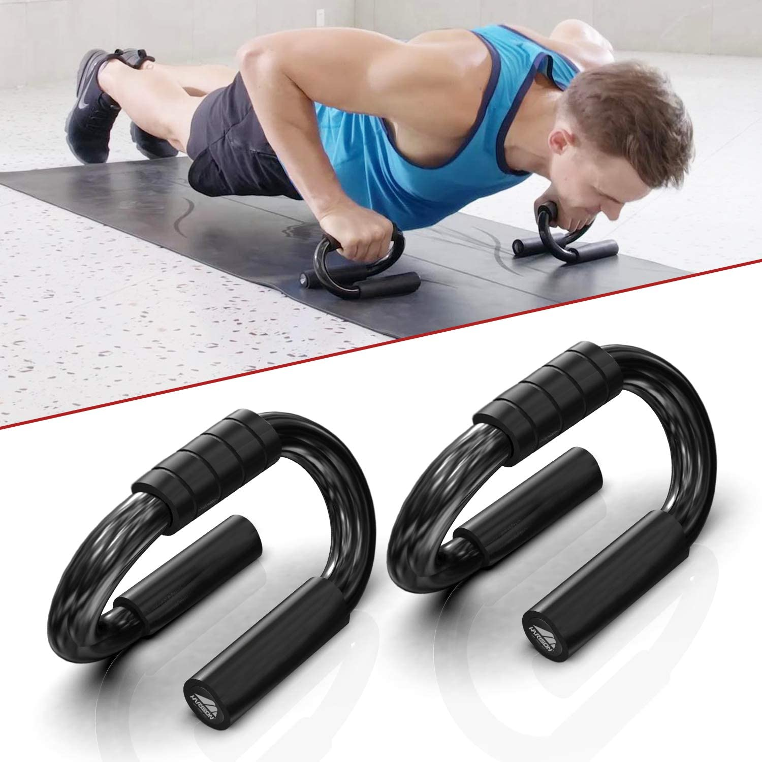 1 Pair Push Up Bars Exercise Stands Gym Home Grip Sponge Hand Set Training Kit