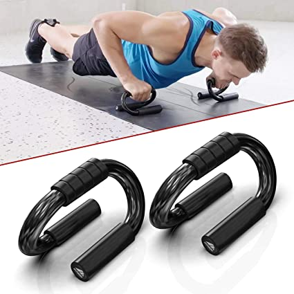 S.Y Home/&Outdoor Portable Steel Push Up Bars for Floor with Foam Padded Grips Push Up Handles at Home Gym for Men and Women