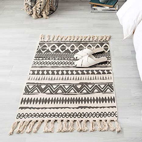 Cotton Chindi Rug Carpet Floor Rugs Throw Boho Traditional Weaver Door Floor Mat