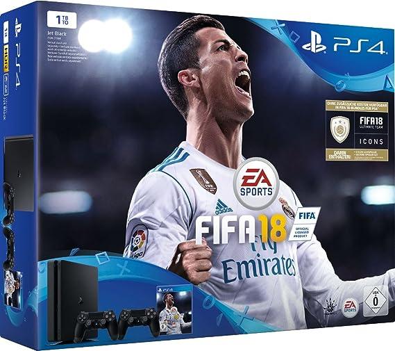 PlayStation 4 (PS4) - Consola De 1 TB + FIFA 18 [Importación ...