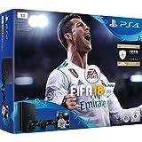 PlayStation 4 - Konsole (1TB, schwarz, slim) inkl. FIFA 18 + 2 DualShock Controller