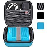 BOVKE for Soundlink Color Wireless Speaker Soundlink Color II UE ROLL 360 Hard EVA Shockproof Carrying Case Storage Travel Case Bag Protective Pouch Box, Blue