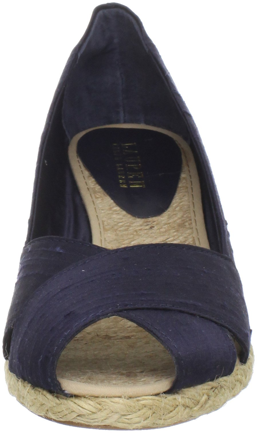 bde5b9ad2e6 Ralph Lauren Women's Cecilia Wedge Sandal, Dark Navy, 8.5 B(M) US ...