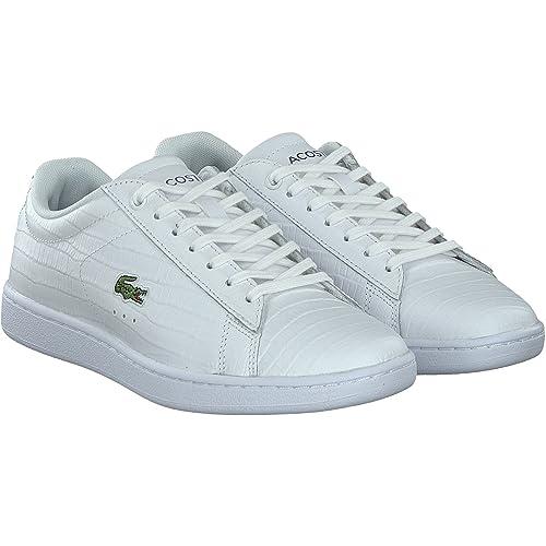c7c997e88029e ZAPATILLAS LACOSTE CARNABY EVO BLANCAS 40  Amazon.es  Zapatos y complementos